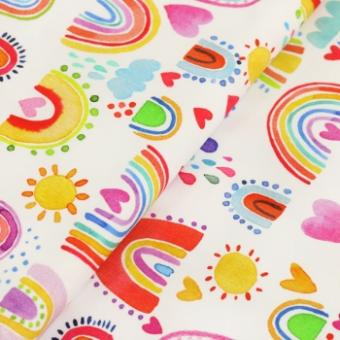 "0,1 m Jersey  ""Lovely Rainbow"" 150 cm br."