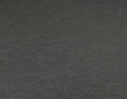 0,1 m Biobaumwolle-Rippenjersey mit angerauhter Innenseite GOTS grau