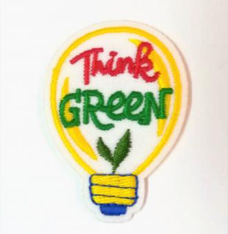 """Applikation """"EcoLover - Think Green"""" ca. 45x35 mm"""