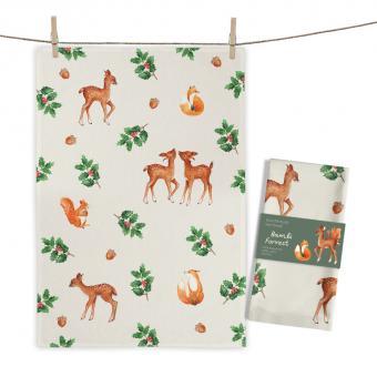 """Baumwoll-Geschirrtuch """"Bambi Forrest"""" ca. 70x50cm"""
