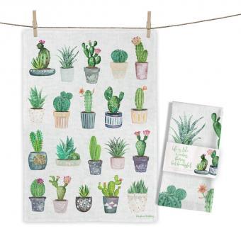 """Baumwoll-Geschirrtuch """"Cactus Collection"""" ca. 70x50cm"""