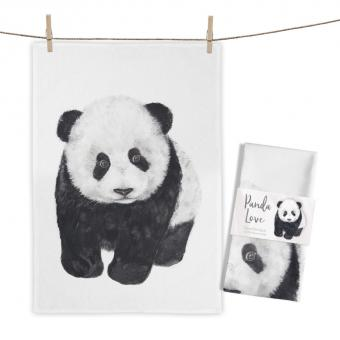 """Baumwoll-Geschirrtuch """"Panda Love"""" ca. 70x50cm"""