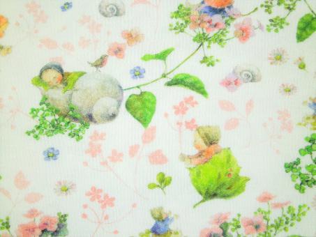 "0,1 m Jersey ""Blütenbabies rosa"" 140 cm breit"