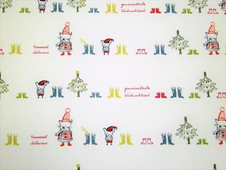 """0,1 m feiner Popeline """" Gemüütliche Weihnachten"""" 100 % Baumwolle kbA 160 cm br. GOTS"""