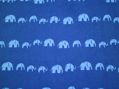 """0,1 m Druckstoff  """"Elefanten"""" ca. 114 cm br."""