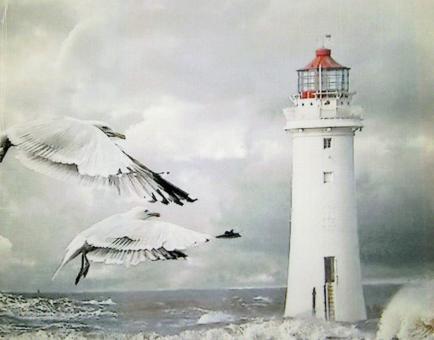 """Tischläufer """"Leuchtturm"""" ca. 40x100 cm"""