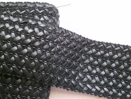 1 m Kunstleder-Gummiborte 65 mm br.