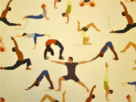 """0,1 m Baumwoll-Druckstoff  """"Yoga""""  110 cm br."""