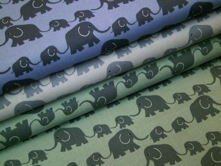 """0,1 m Druckstoff  """"Junge Linie"""" Elefanten 150 cm br. Westfalen"""