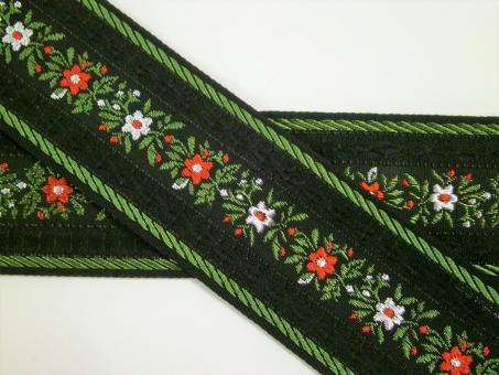 "1 m Webband ""Blumenranke alpin"" 42 mm"