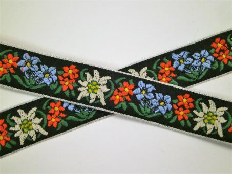 "1 m Webband ""Alpenflora"" 25 mm"