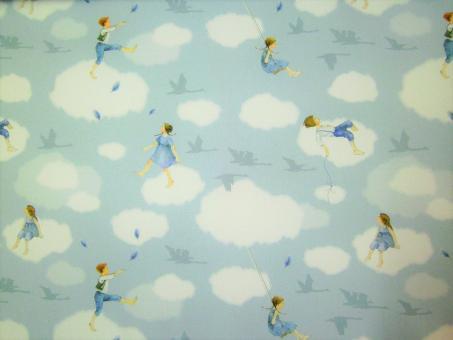 """0,1 m Baumwollstoff """"Wolkenkinder"""" 145 cm breit"""