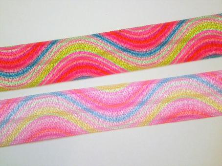 """1 m elastisches Einfassband """"Welle""""  15 mm"""
