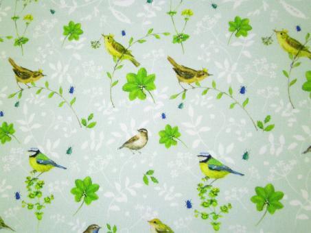 """0,1 m Baumwollstoff """"Vogelwelt"""" 145 cm breit"""