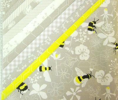 "Stoffpaket ""Kyoto - Hummel"" 12tlg. 48x48 cm Baumwollstoffe Westfalen"