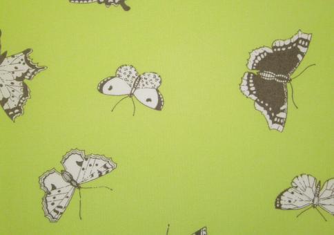 """0,1 m Druckstoff """"Gent limon"""" Schmetterlinge 150 cm br. Westfalen"""