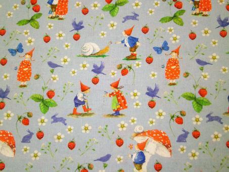 """0,1 m Baumwollstoff """"Erdbeersommer"""" 145 cm breit"""