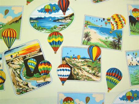 "0,1 m Baumwoll-Druckstoff  ""Balloons""  110 cm br."