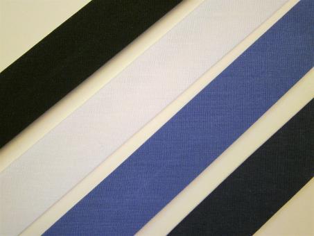 1 m Schrägband uni 65% Polyester 35% Baumwolle 20 mm vorgefalzt