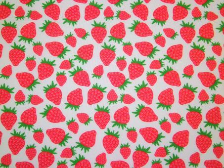 """0,1 m Druckstoff  """"Pucker up - Erdbeeren"""" ca. 114 cm br."""