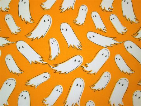 "0,1m feiner Baumwolldruck ""Spooky 'n Sweet - Gespenster"" 114 cm br."