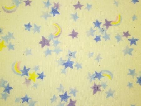 """0,1 m Japan-Druckstoff  """"Regenbogen Sterne""""  108 cm br."""
