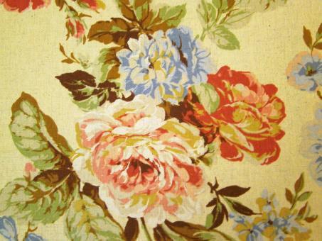 """0,1 m Kokka-Druckstoff """"British Flower I"""" Baumwolle/Leinen"""
