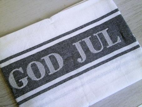 "Recycling Geschirrtuch ""God Jul"" ca. 50x70 cm"