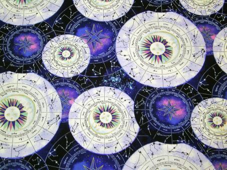 "0,1 m Druckstoff  ""Magical Galaxy - Sternzeichen"" ca. 114 cm br."