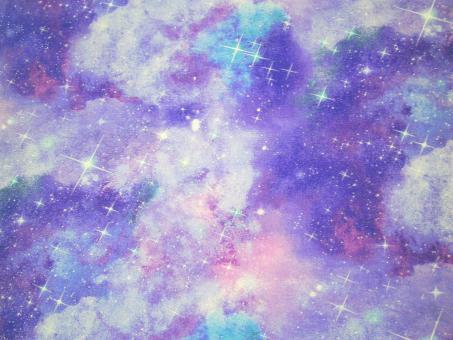 "0,1 m Druckstoff  ""Magical Galaxy - Sternenglitzer"" ca. 114 cm br."