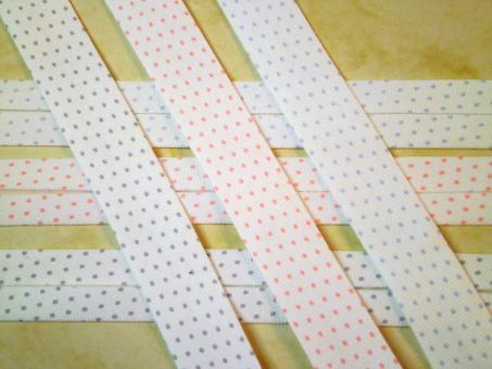 """1 m Schrägband """"Pastellpunkte"""" 100% Bio-Baumwolle kba GOTS"""