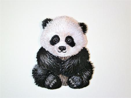 """Applikation """"Panda"""" ca.55x45 mm"""