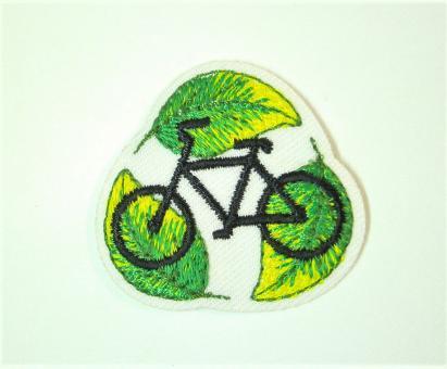 "Applikation ""EcoLover - Fahrrad"" ca. 34 mm Durchmesser"