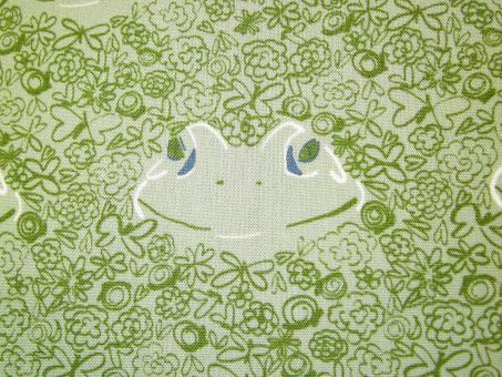 "0,1 m Druckstoff  ""Lillyput - Frosch"" ca. 114 cm br."