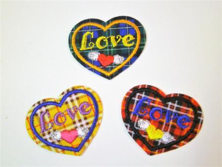 aufbügelbares Schottenkaro-Herz