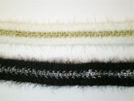 1 m Strickband mit Metalliceffekt 10 mm breit