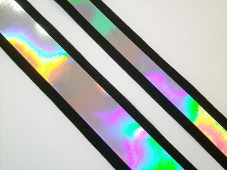 1 m Ripsband mit Folienbeschichtung irisierend 20 / 30  mm br.
